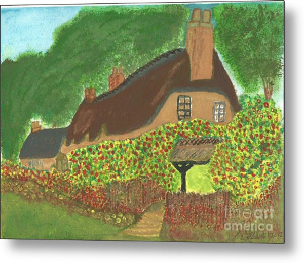 Rose Cottage Metal Print