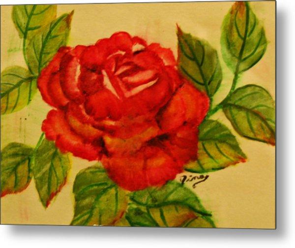 Rose Metal Print by Dina Jacobs