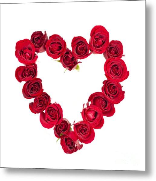 Rose Heart Metal Print