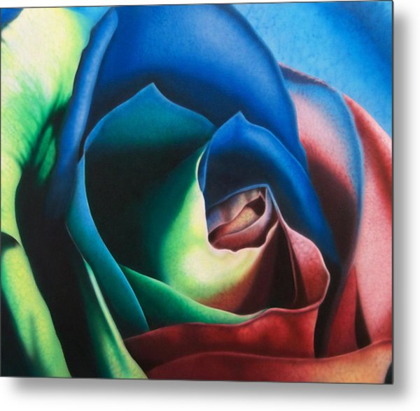 Rose Hybrid Metal Print by Michael Wicksted