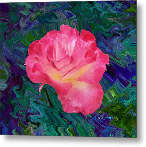Rose In The Matter Of Your Hand V7 Metal Print