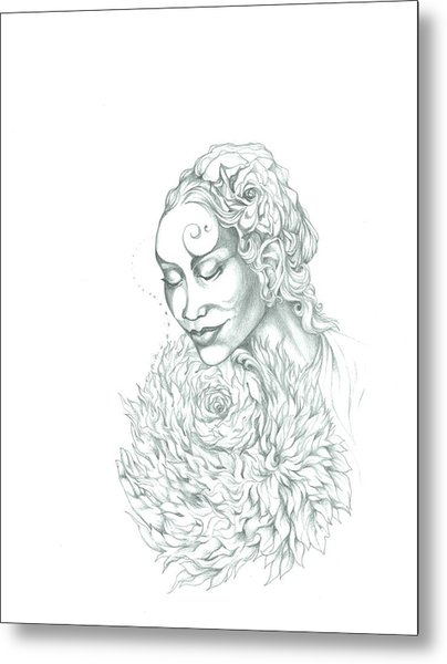 Rose Of Grace And Kindness Metal Print by Lydia Erickson