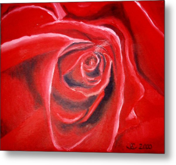 Rose Metal Print by Sandra Yegiazaryan