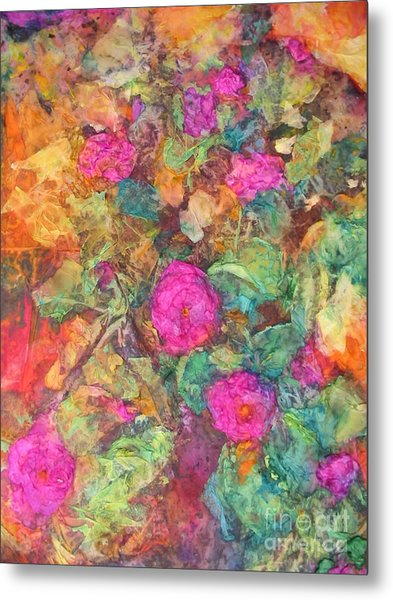 Rose Tree Metal Print