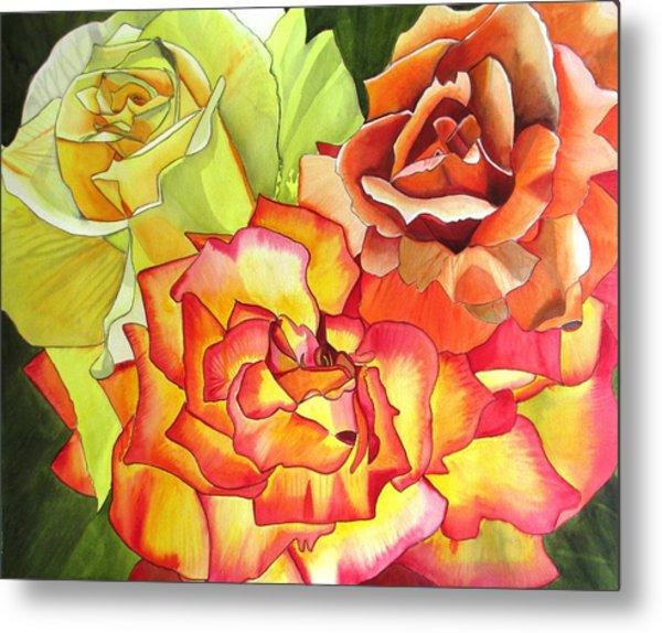 Rose Trio Metal Print by Sacha Grossel