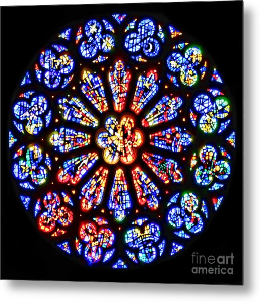 Rose Window Of Grace Cathedral By Diana Sainz Metal Print