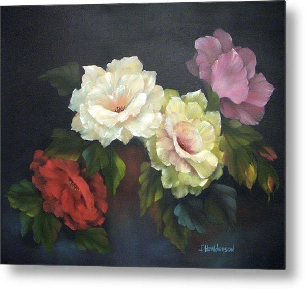 Roses-4-you Metal Print by Francine Henderson
