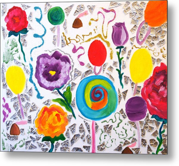 Roses And Lollipops For Mom Metal Print