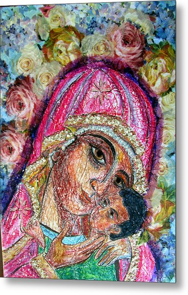 Roses For Mary Metal Print
