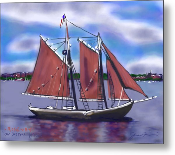 Roseway On Boston Harbor Metal Print