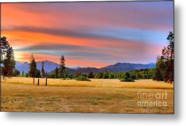 Rosey Dawn Metal Print