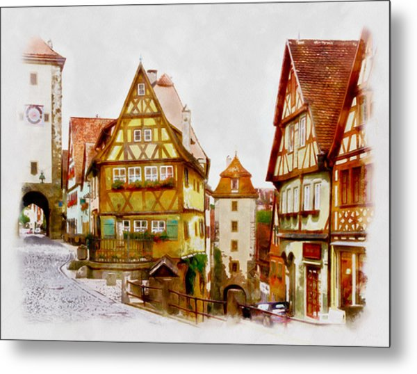 Rothenburg Metal Print