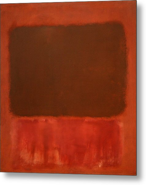 Rothko's Mulberry And Brown Metal Print