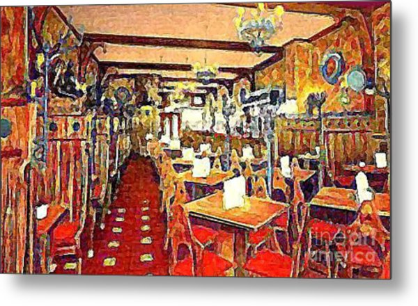 Roth's Grill And Restaurant In New York City Around 1930 Metal Print by Dwight Goss