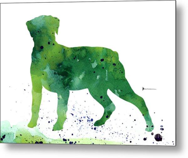 Rottweiler Silhouettes Art Print  Metal Print