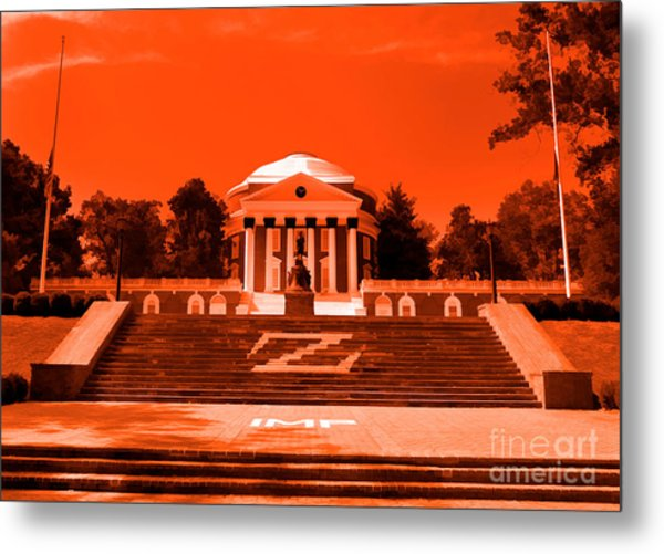 Rotunda Uva Orange Metal Print