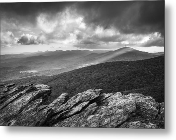 Rough Ridge Grandfather Mountain Blue Ridge Parkway - Remains Of The Day Metal Print