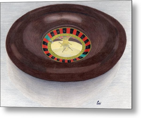 Roulette Wheel Metal Print by Bav Patel
