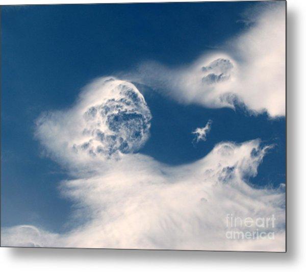 Round Clouds Metal Print