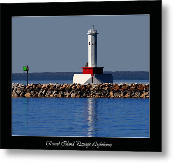Round Island Passage Lighthouse Metal Print