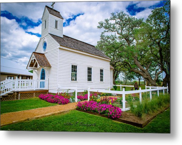 Round Top Chapel Metal Print