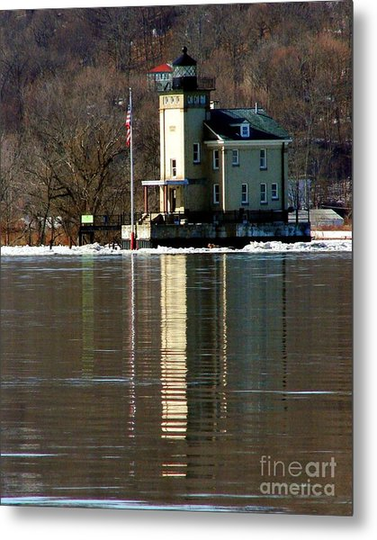 Roundout Lighthouse Metal Print