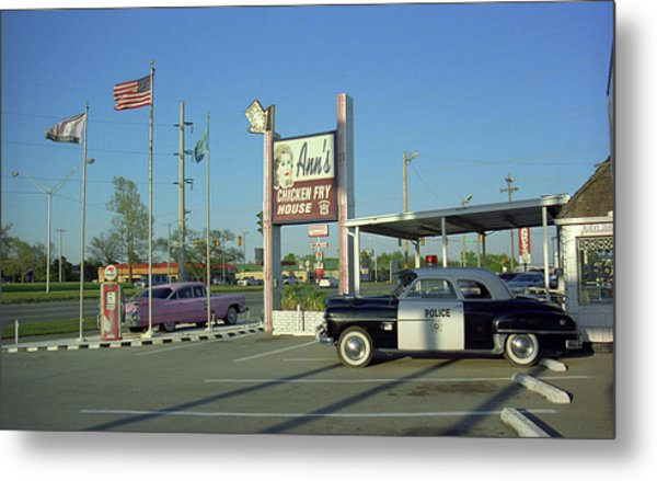 Route 66 - Anns Chicken Fry House Metal Print
