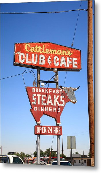 Route 66 - Cattleman's Club And Cafe Metal Print
