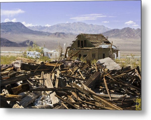 Route 66 Ludlow Decay Metal Print