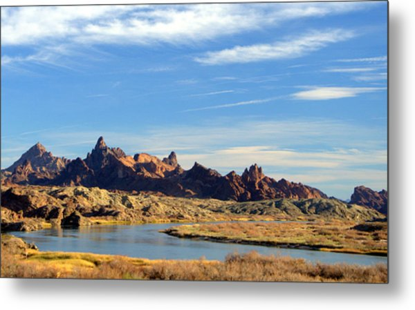 Route 66 Needles Mtn Range 2      Sold Metal Print