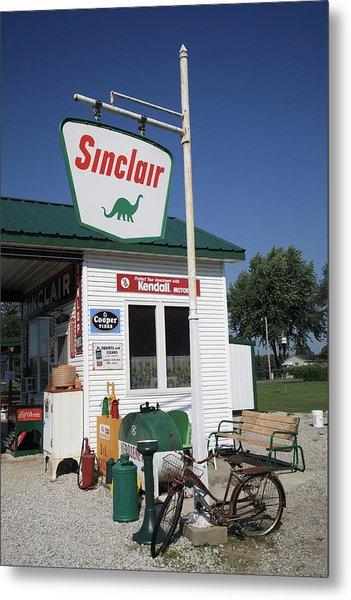 Route 66 - Sinclair Station Metal Print