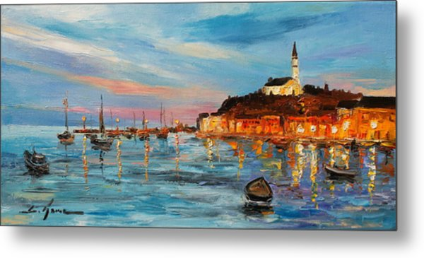 Rovanij Harbour Metal Print