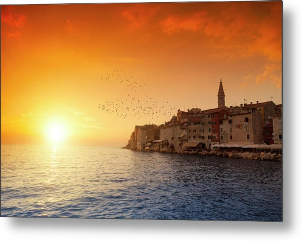 Rovinj By Sunset Metal Print by Focusstock