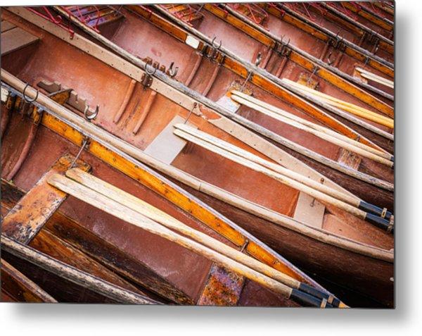 Row Boats Metal Print