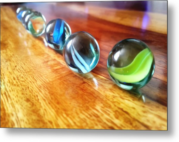 Row Of Marbles Metal Print