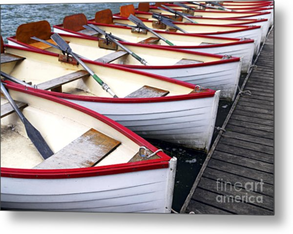 Rowboats Metal Print