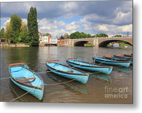 Rowing Boats At Hampton Court Metal Print