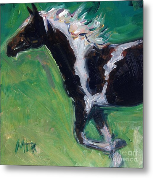 Paint Horse Oil Painting Roxy Metal Print