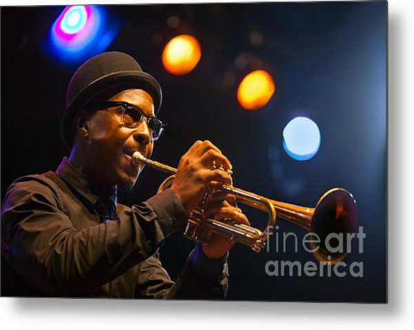 Roy Hargrove With Hat Metal Print