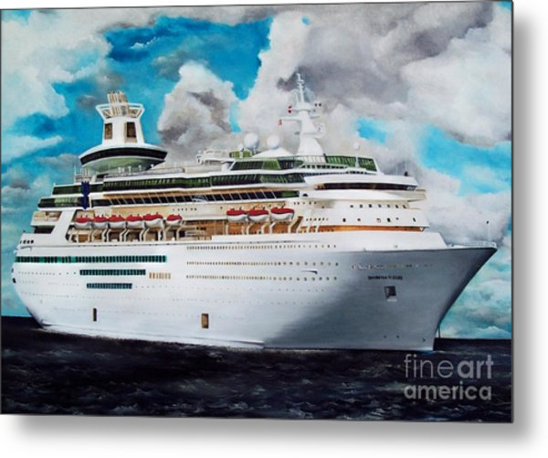 Royal Caribbean Sovereign Of The Seas Metal Print by Kenneth Harris
