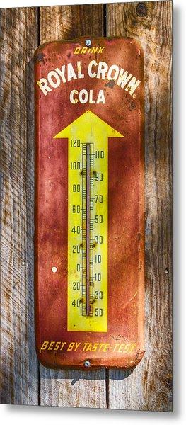 Royal Crown Barn Thermometer Metal Print