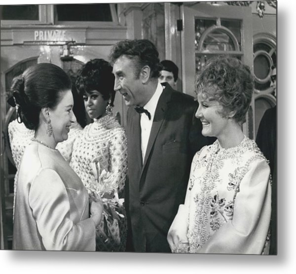 Royals Attend The Royal Variety Performance At The London Metal Print by Retro Images Archive