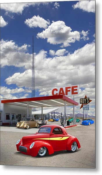 Roy's Gas Station - Route 66 Metal Print