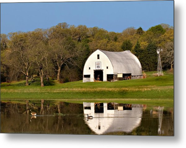 Rt 66 Hay Farm Oklahoma Metal Print