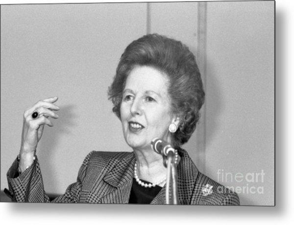 Rt.hon. Margaret Thatcher Metal Print