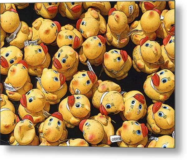 Rubber Duckies Annual Race For Charity Metal Print by Rob Huntley