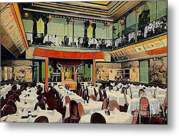 Ruby Foo Den Chinese Restaurant In New York City Metal Print by Dwight Goss