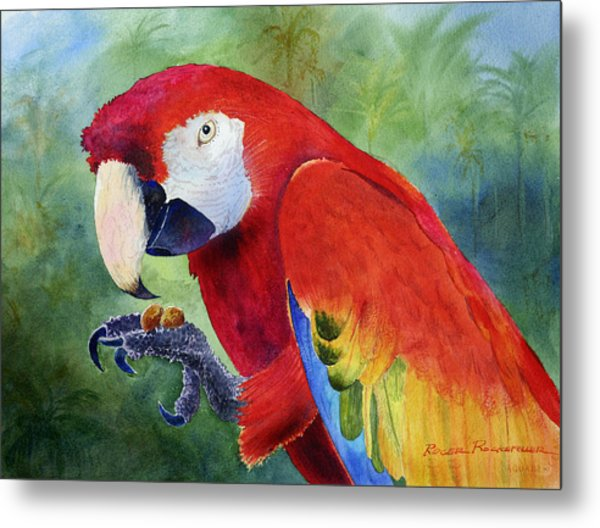 Ruby Having Lunch Metal Print