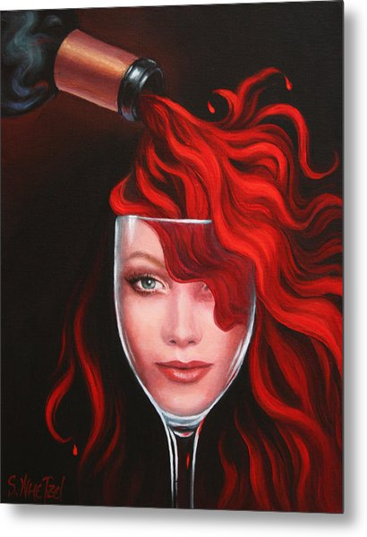 Ruby Red Metal Print
