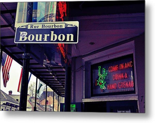 Rue Bourbon Street Metal Print